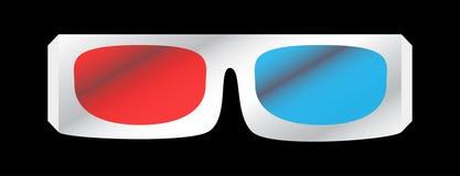 Ilustração do vetor de vidros do cinema 3d Fotografia de Stock Royalty Free