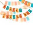 Ilustração do vetor Dia da acção de graças colorido Imagens de Stock Royalty Free