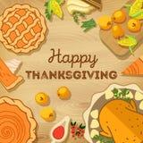 Ilustração do vetor Dia da acção de graças outono Fotografia de Stock