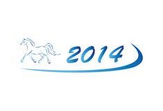 Ilustração do vetor do ícone 2014 do cavalo Imagens de Stock