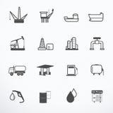 Ilustração do vetor do ícone da produção de petróleo Imagem de Stock Royalty Free