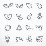 Ilustração do vetor do ícone de Eco Imagem de Stock Royalty Free