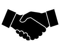 Ilustração do vetor do ícone do aperto de mão do negócio Foto de Stock