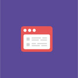 Ilustração do vetor do ícone do cartão da identificação Fotos de Stock Royalty Free