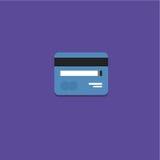 Ilustração do vetor do ícone do cartão de crédito Fotos de Stock Royalty Free