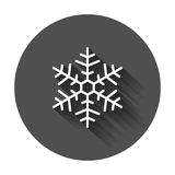 Ilustração do vetor do ícone do floco de neve no estilo liso ilustração royalty free