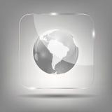 Ilustração do vetor do ícone do globo Foto de Stock Royalty Free