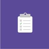 Ilustração do vetor do ícone do questionário Imagens de Stock