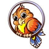 Ilustração do vetor do animal de estimação do animal de estimação do papagaio Fotografia de Stock Royalty Free