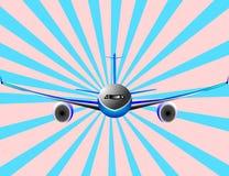 Ilustração do vetor do avião ou do plano de Airbus ilustração stock