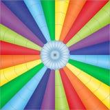 Ilustração do vetor do babackground colorido do balão do paraquedas Imagens de Stock Royalty Free