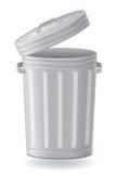 Ilustração do vetor do balde do lixo Imagem de Stock Royalty Free