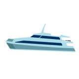 Ilustração do vetor do barco azul Fotos de Stock