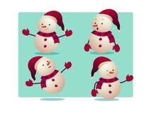 Ilustração do vetor do boneco de neve Fotografia de Stock Royalty Free