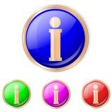 Ilustração do vetor do botão da informação Foto de Stock Royalty Free