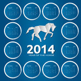 ilustração do vetor do calendário do ano 2014 novo Fotos de Stock