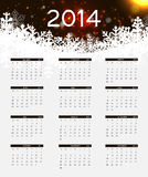 ilustração do vetor do calendário do ano 2014 novo Fotografia de Stock