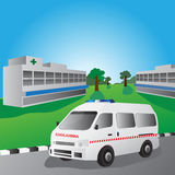 Ilustração do vetor do carro da ambulância Foto de Stock