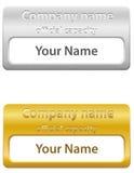 Ilustração do vetor do cartão de identidade Imagem de Stock