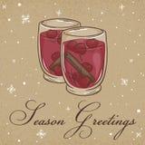 Ilustração do vetor do cartão do papel de embalagem do Natal Foto de Stock Royalty Free