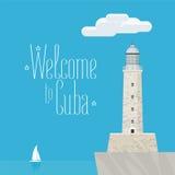 Ilustração do vetor do castelo de Morro do cubano ilustração stock