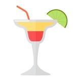 Ilustração do vetor do cocktail de Margarita ilustração do vetor