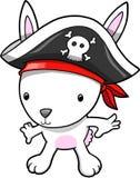 Ilustração do vetor do coelho do pirata ilustração stock