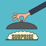 Ilustração do vetor do conceito com mensagem da surpresa Foto de Stock Royalty Free