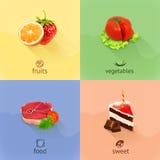 Ilustração do vetor do conceito do alimento ilustração royalty free