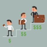 Ilustração do vetor do conceito do negócio no estilo liso Imagem de Stock Royalty Free