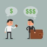 Ilustração do vetor do conceito do negócio no estilo liso Imagem de Stock