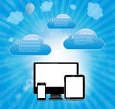 Ilustração do vetor do conceito do serviço online Foto de Stock Royalty Free