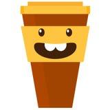 Ilustração do vetor do copo de café Fotos de Stock