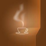 Ilustração do vetor do copo e do vapor Foto de Stock Royalty Free