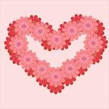 Ilustração do coração da flor Imagens de Stock Royalty Free