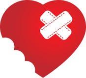 Ilustração do vetor do coração mordido Fotografia de Stock Royalty Free