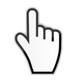 Ilustração do vetor do cursor da mão do rato Imagens de Stock