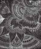 Ilustração do vetor do desenho da garatuja Linhas brancas abstratas Imagem de Stock Royalty Free