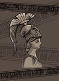 Ilustração do vetor do desenho de Athena ilustração do vetor