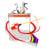 Ilustração do vetor do design web Fotografia de Stock Royalty Free