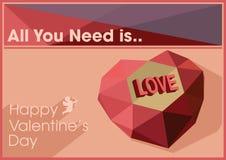 Ilustração do vetor do dia de Valentim Imagens de Stock