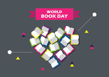 Ilustração do vetor do dia do livro do mundo Eps 10 Foto de Stock Royalty Free