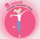 Ilustração do vetor do dia do ` s das mulheres Imagens de Stock Royalty Free