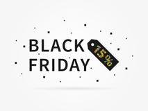 Ilustração do vetor do disconto dos por cento de Black Friday Foto de Stock