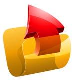 Ilustração do vetor do dobrador da transferência de arquivo pela rede Imagens de Stock