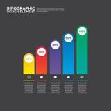 Ilustração do vetor do elemento do projeto da disposição do relatório comercial de Infographic Imagem de Stock Royalty Free