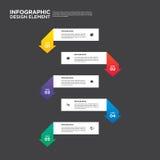 Ilustração do vetor do elemento do projeto da disposição do relatório comercial de Infographic Imagens de Stock Royalty Free