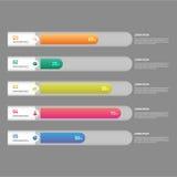 Ilustração do vetor do elemento do projeto do molde da bandeira de Infographic Fotos de Stock