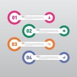Ilustração do vetor do elemento do projeto do molde da bandeira de Infographic Fotografia de Stock