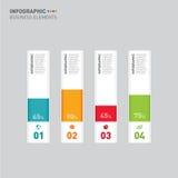 Ilustração do vetor do elemento do projeto do molde da bandeira de Infographic Foto de Stock